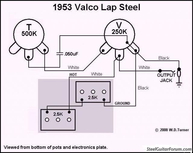 steel guitar wiring diagram