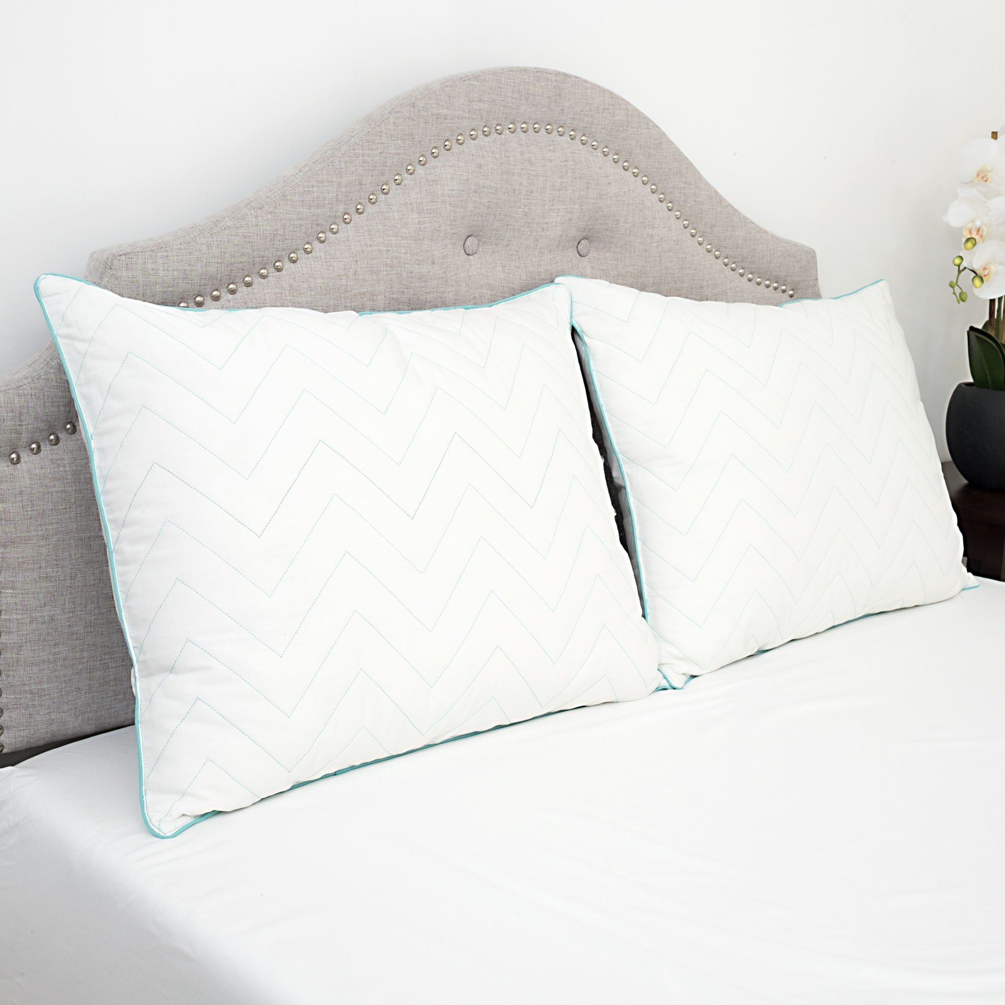 Standard Bed Pillows Details About Cotton Stay Cool Gel Microfiber Bed Pillow Standard Queen King 1 Or 2 Pack