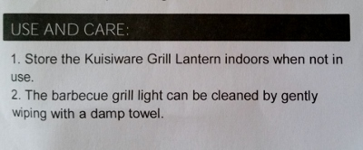 BBQ Grill Light Review Keep Dry