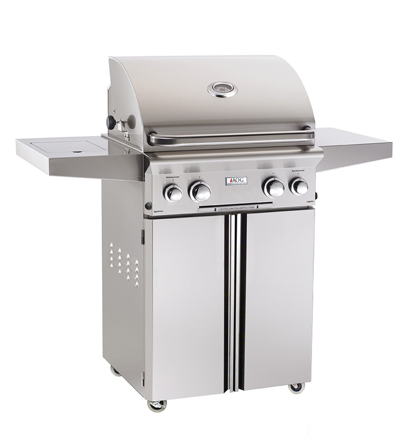 Grill 24 American Outdoor Grill 24 Inch Natural Gas Grill On Cart W ...