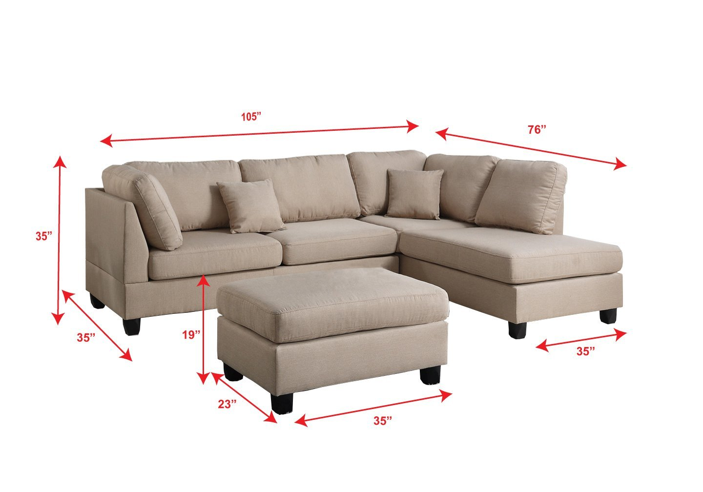 Sofa Set Price Rate Sectional Sofa W Ottoman F7605 Bb 39s Furniture Store