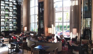 A recent Marriott property lobby transformation. Intimate?