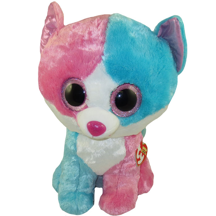 Babies Toys Videos Ty Beanie Boos Fiona The Blue Pink Cat Glitter Eyes