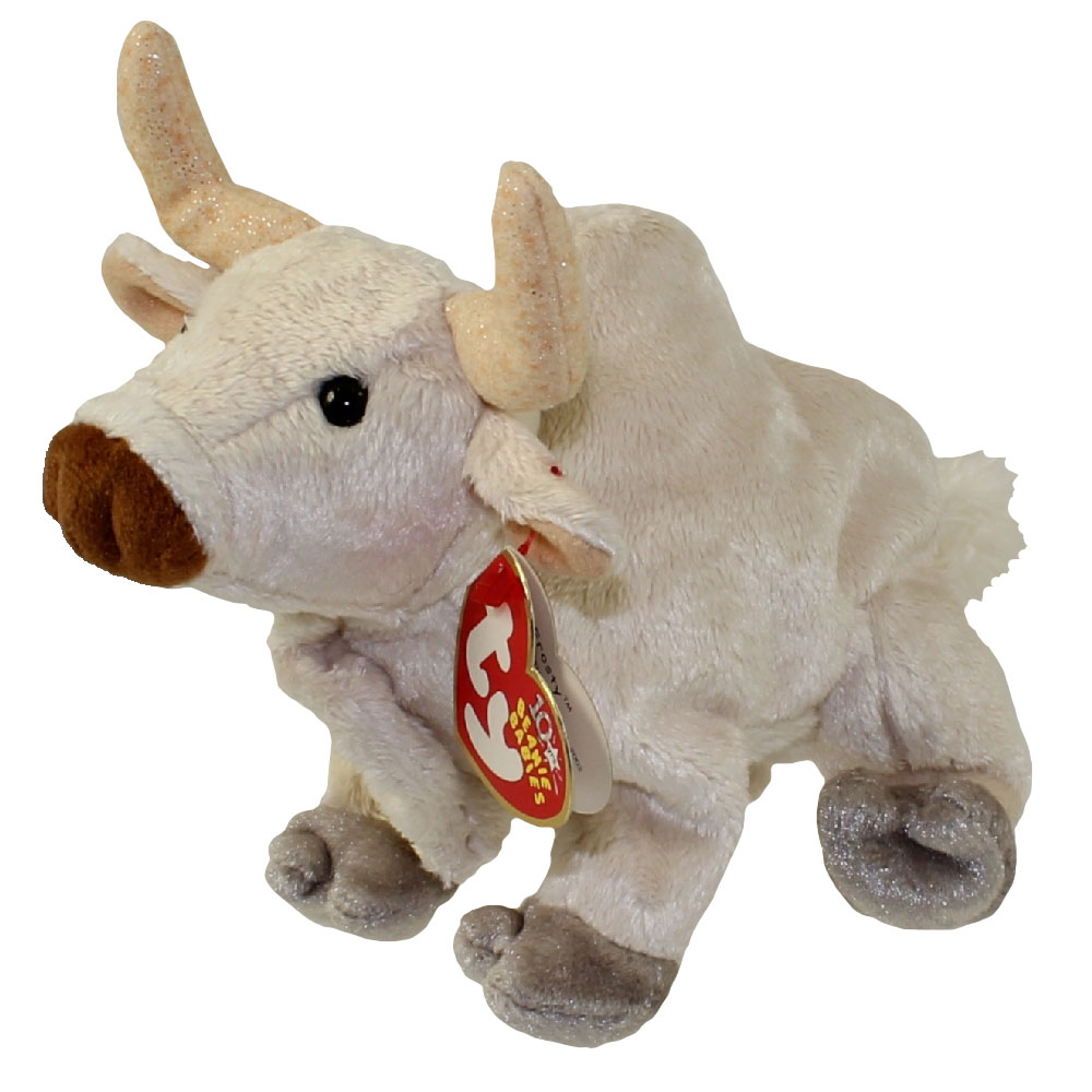 Baby Babies Game Ty Beanie Baby Frosty The Bull 5 Inch Bbtoystore