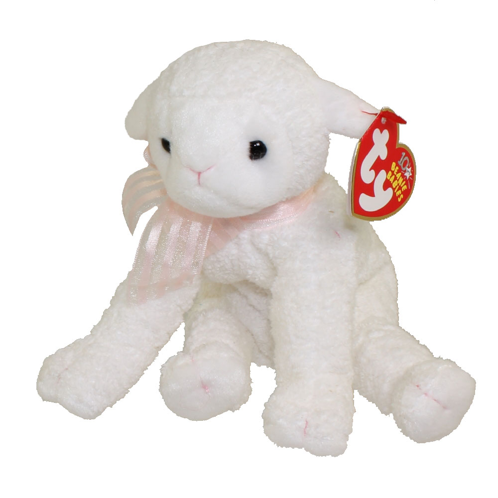 My Deck Ty Beanie Baby - Lullaby The Lamb (6 Inch): Bbtoystore.com
