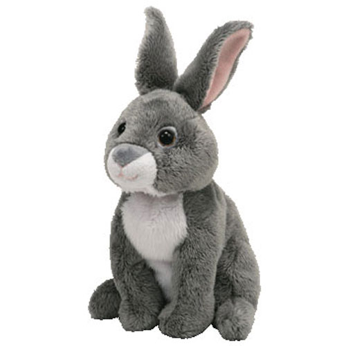 Baby Babies Game Ty Beanie Baby Orchard The Grey Bunny Rabbit 7 Inch