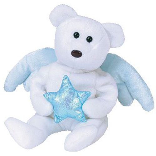 Baby Babies Game Ty Beanie Baby Star The Angel Bear Holding Blue Star