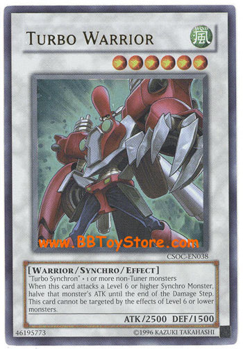Babies Toys Videos Yu Gi Oh Card Csoc En038 Turbo Warrior Ultra Rare