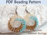 Beading Tutorial Pattern Earrings Jewelry Making Simple Bead Patterns