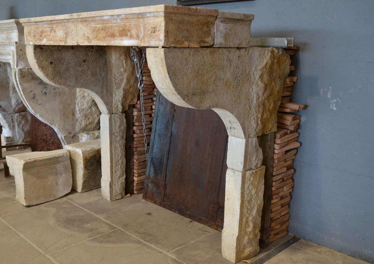 Old Farmhouse Fireplaces Antique French Limestone Farmhouse Fireplace
