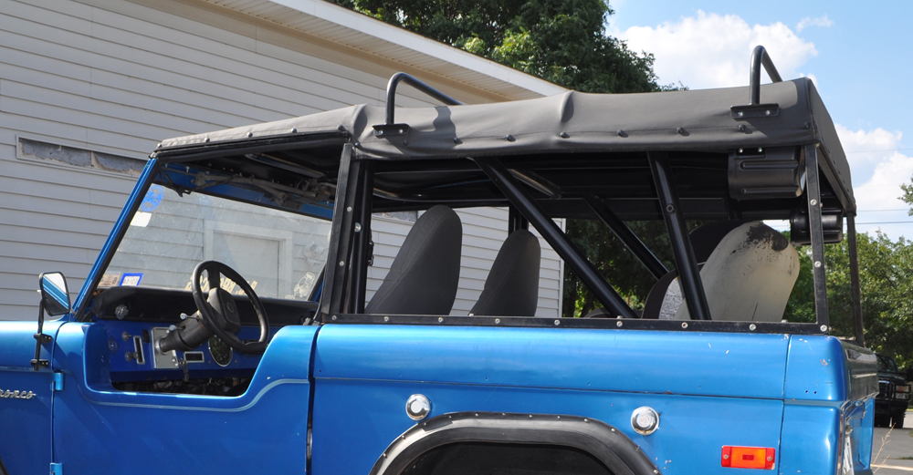 66 50200 Canvas Soft Top With Tint Windows And Frame