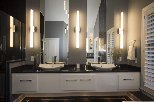 And gorgeous modern master bathroom installation done by gary gresh