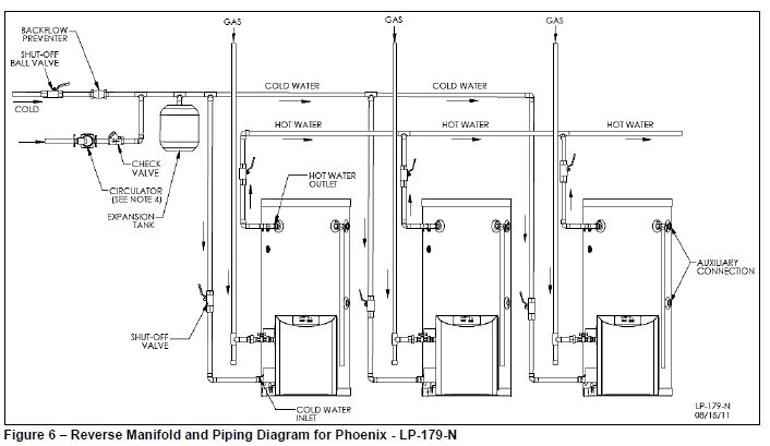 plumbing diagram for hot water boiler