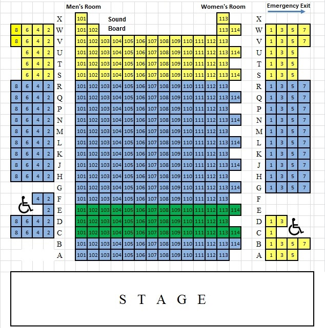 Seating Chart \u2013 Bucks County Playhouse - a seating