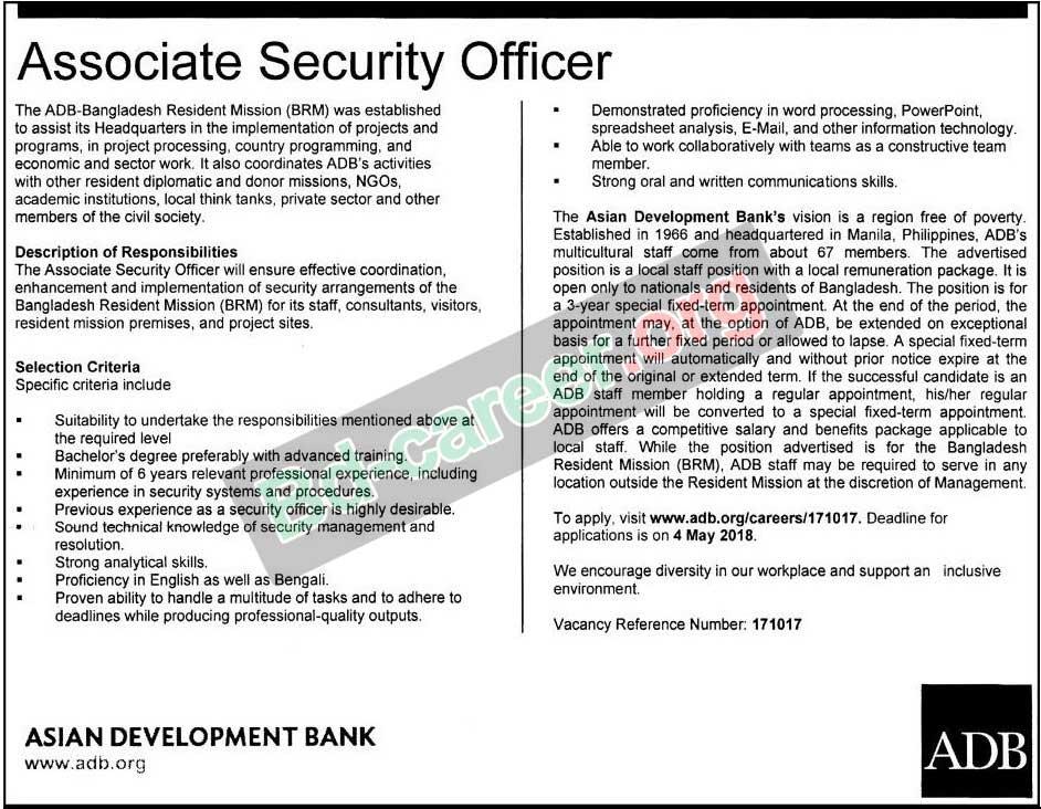 Asian Development Bank ADB Job Circular Apply 2018 । wwwadborg