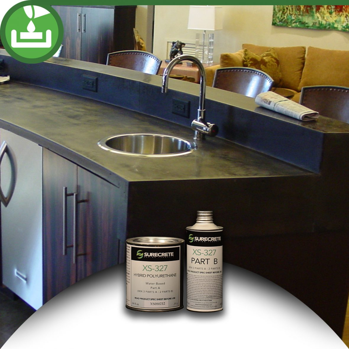 How To Seal Concrete Countertops High Gloss Countertop Sealer Kit Bdc Supply Company