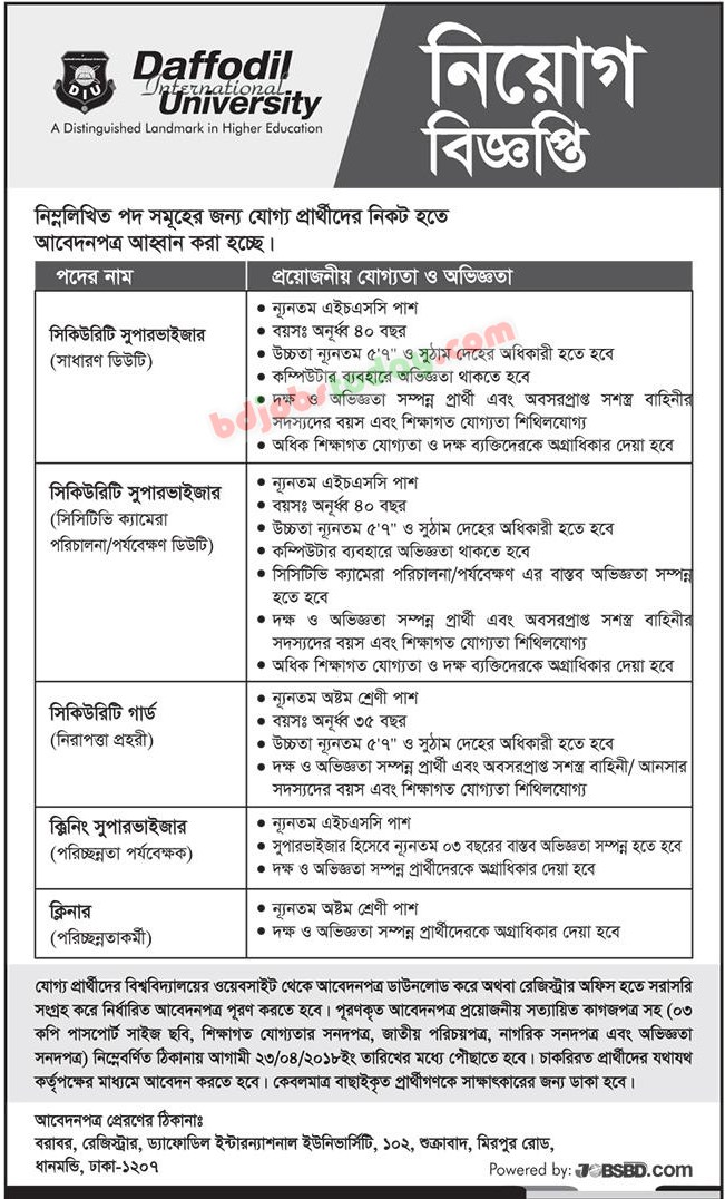 Security Supervisor Job Bangladesh  Mobile Version