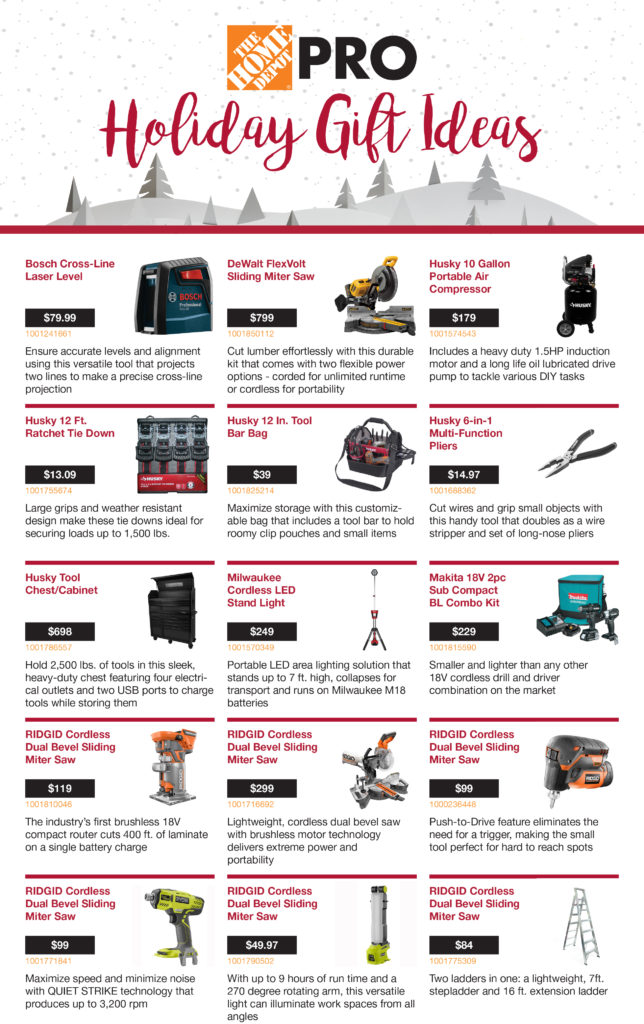 Home Depot Holiday Gift Ideas - Builder and Developer Magazine - home depot gift ideas