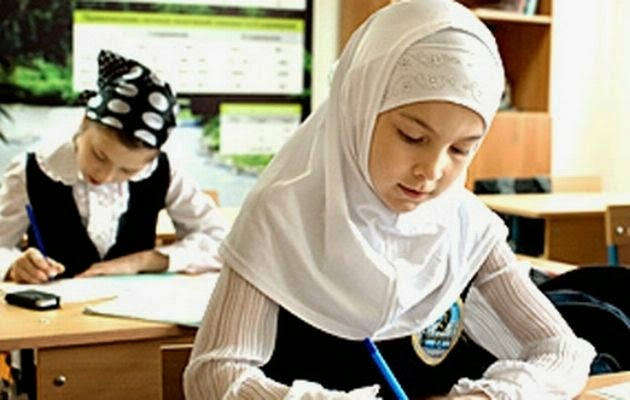 Chechen schoolgirls Now Can wear Hijab in School