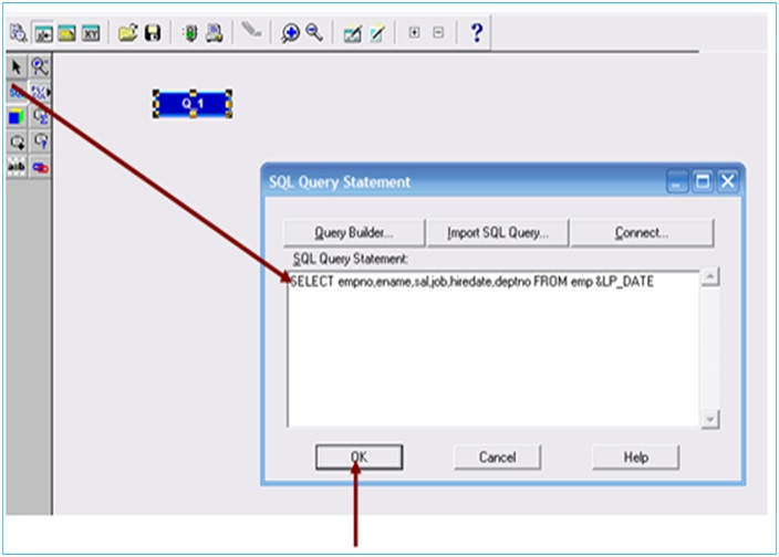 How Create a report with Lexical Parameter in oracle Reports - how to create a report