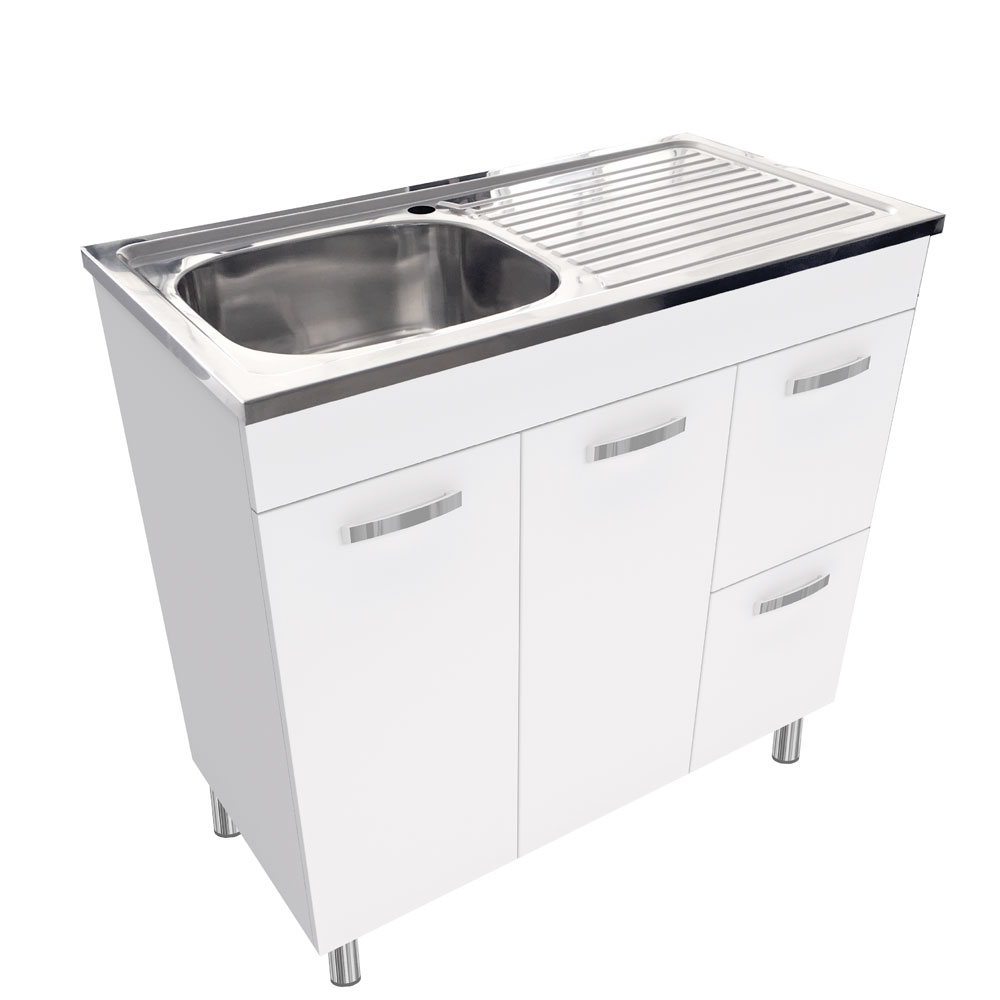 Kitchen Cabinet Discount Warehouse Citi Laundry Sink Cabinet - 890x460x902mm | Builders
