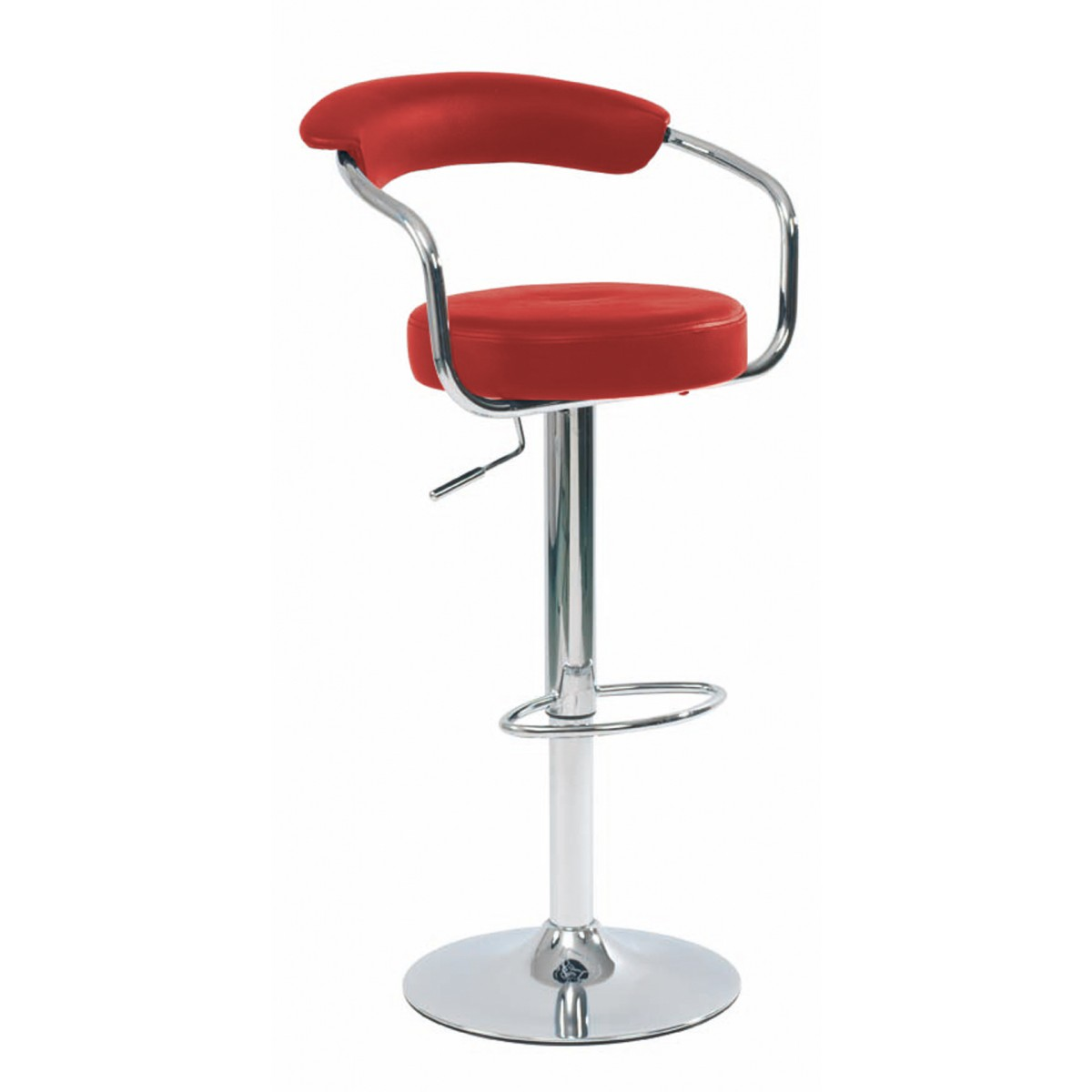 Lot Chaise De Bar Tabouret De Bar Rouge Avec Accoudoirs Lot De 2