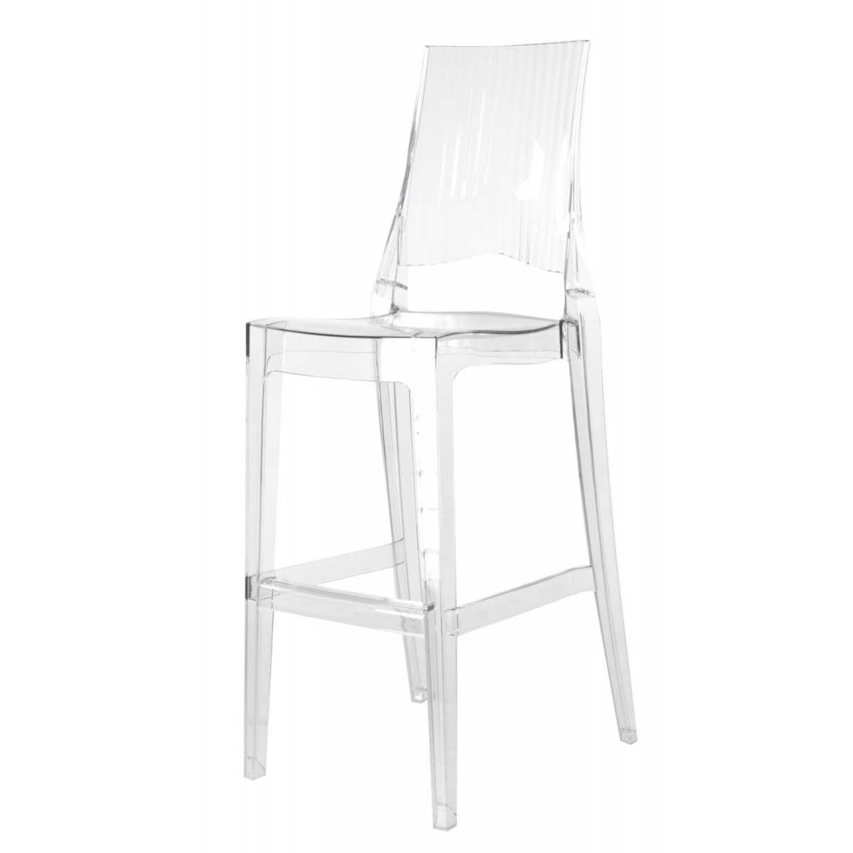 Tabourets De Bar Transparents 2 X Tabouret De Bar Transparent Polycarbonate Glenda