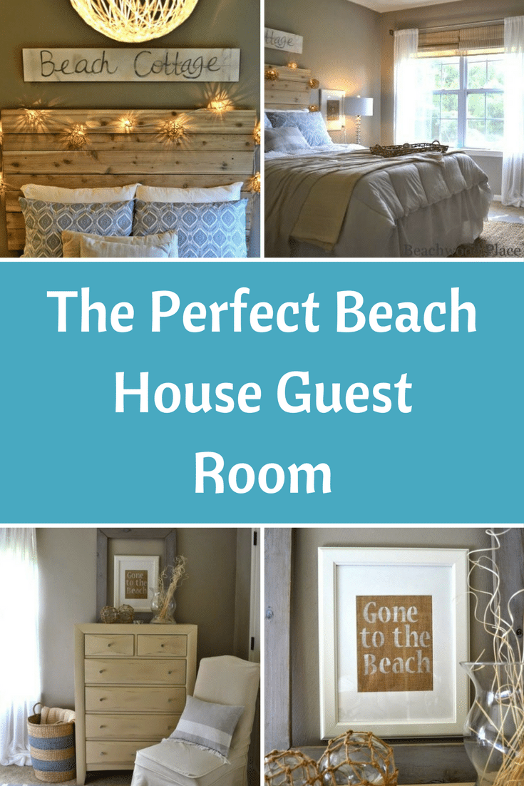 Living Room Color Schemes Beach Theme Guest Bedroom With Diy Wood Headboard, Wall