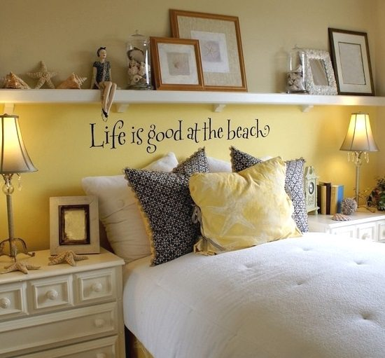Ledge Shelf And Life Is Good At The Beach Wall Stickers
