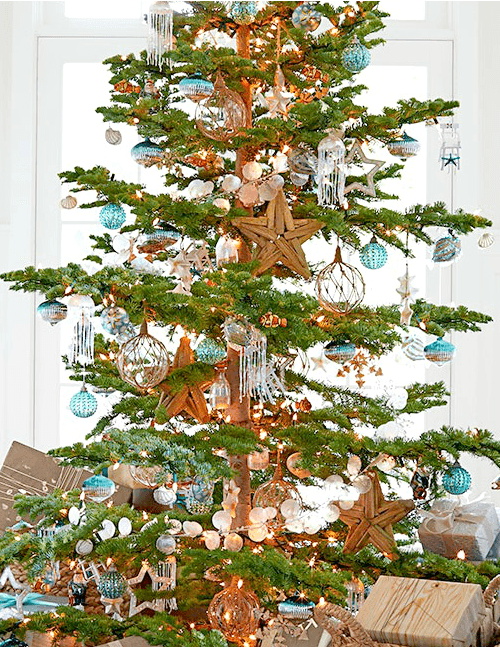 beach christmas decorations ideas inspired by sea sand