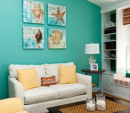 Wall Decorating Ideas Over Sofa : Inspiring beach wall decor ideas for the space above