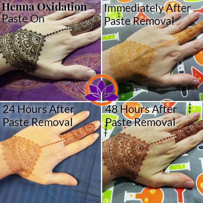 Henna stain color samples