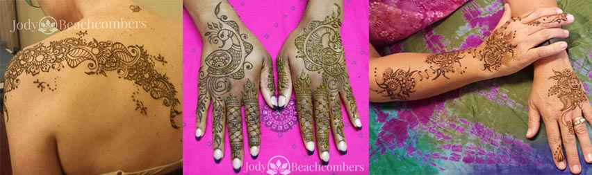Sample Silver Henna Designs in Orlando