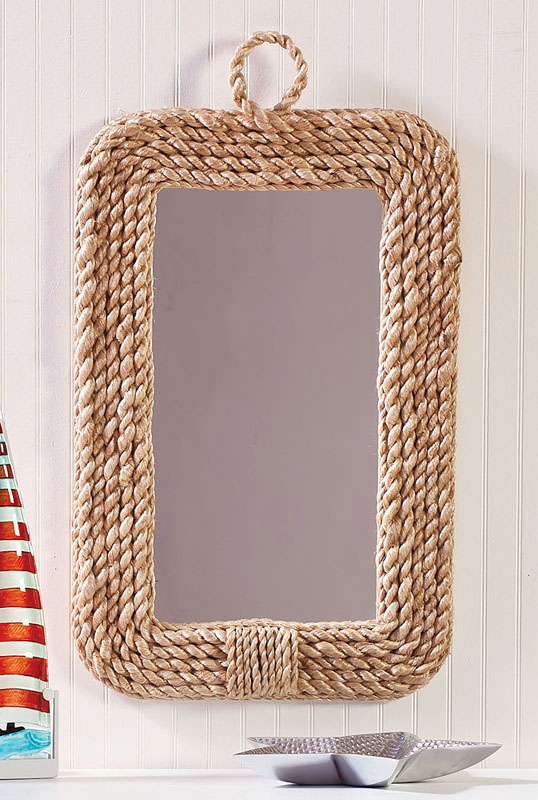 Tv Sideboard Ideas Rope Frame Wall Mirror