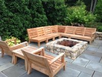 Atnas Grade-A Teak Outdoor Sectional Sofa Set