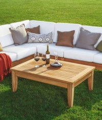 Outdoor Teak Sofa Ravello Sofa Couch Teak Outdoor ...