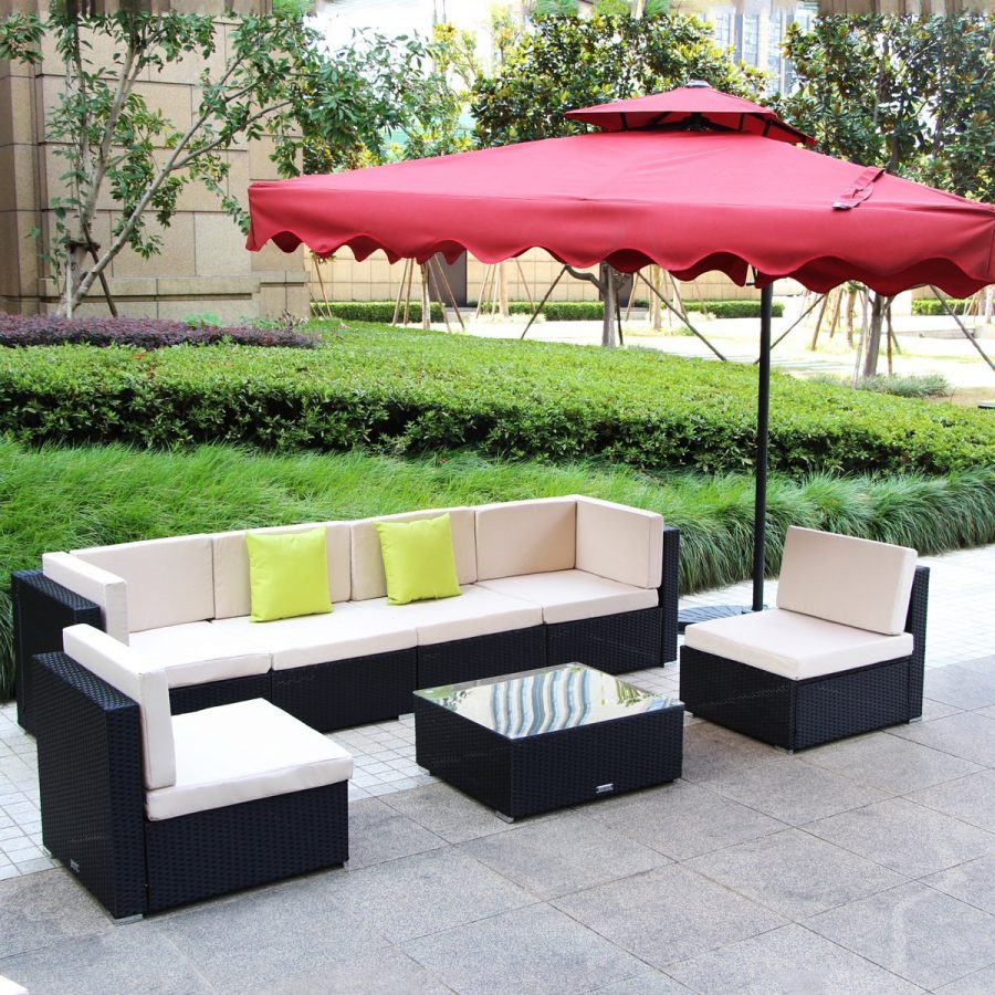 Sofa Rattan Umax 7 12pc Outdoor Rattan Wicker Sofa Set