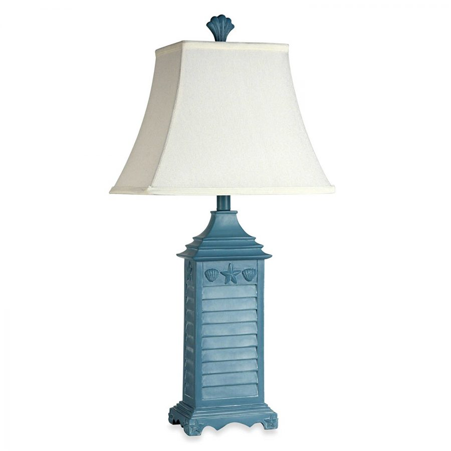 Coastal Lamps Coastal Shutter Seashell Table Lamp