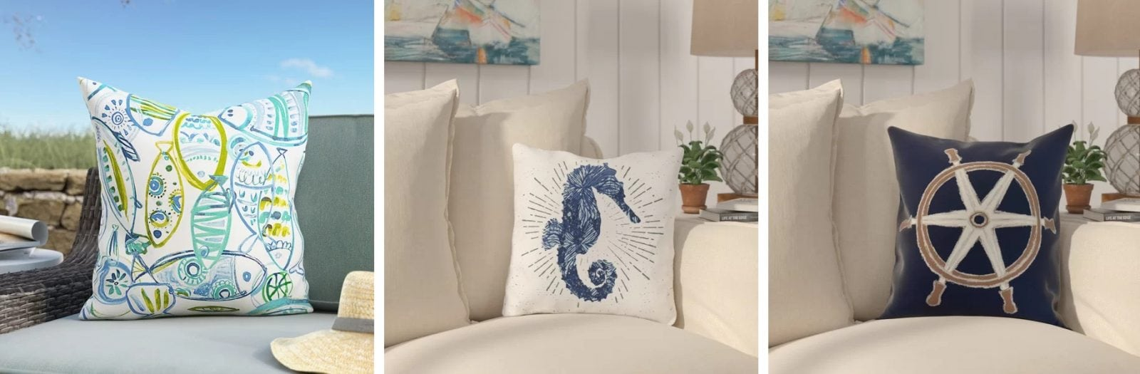 Nautical Sofa Throws Nautical Pillows And Nautical Throw Pillows Beachfront Decor