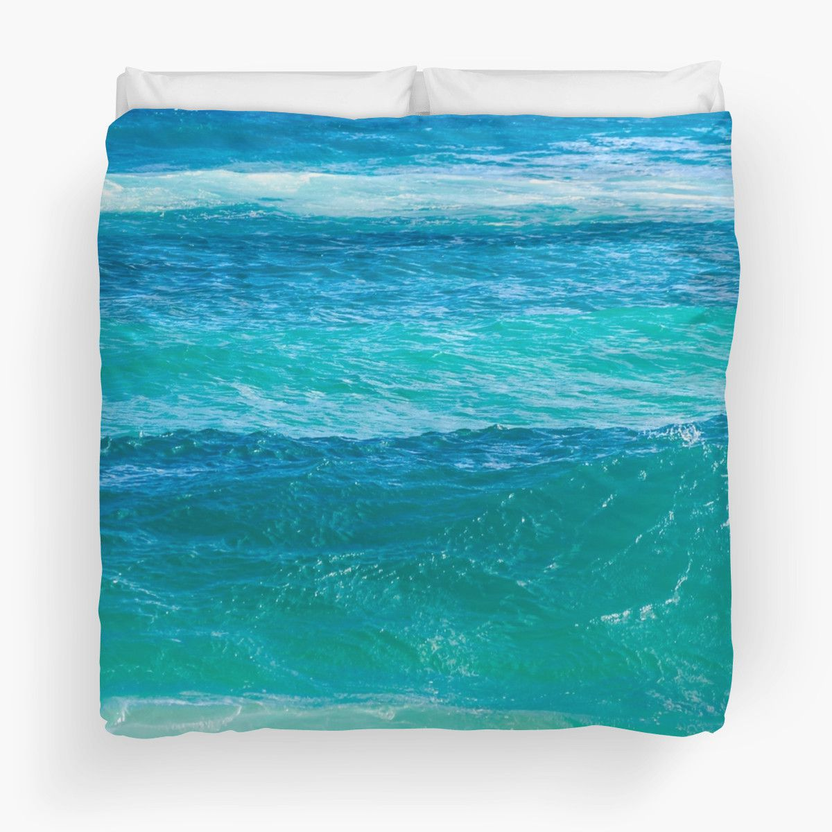 Home Decor Bath Deep Teal Ocean Water Duvet Cover – Beachlovedecor.com