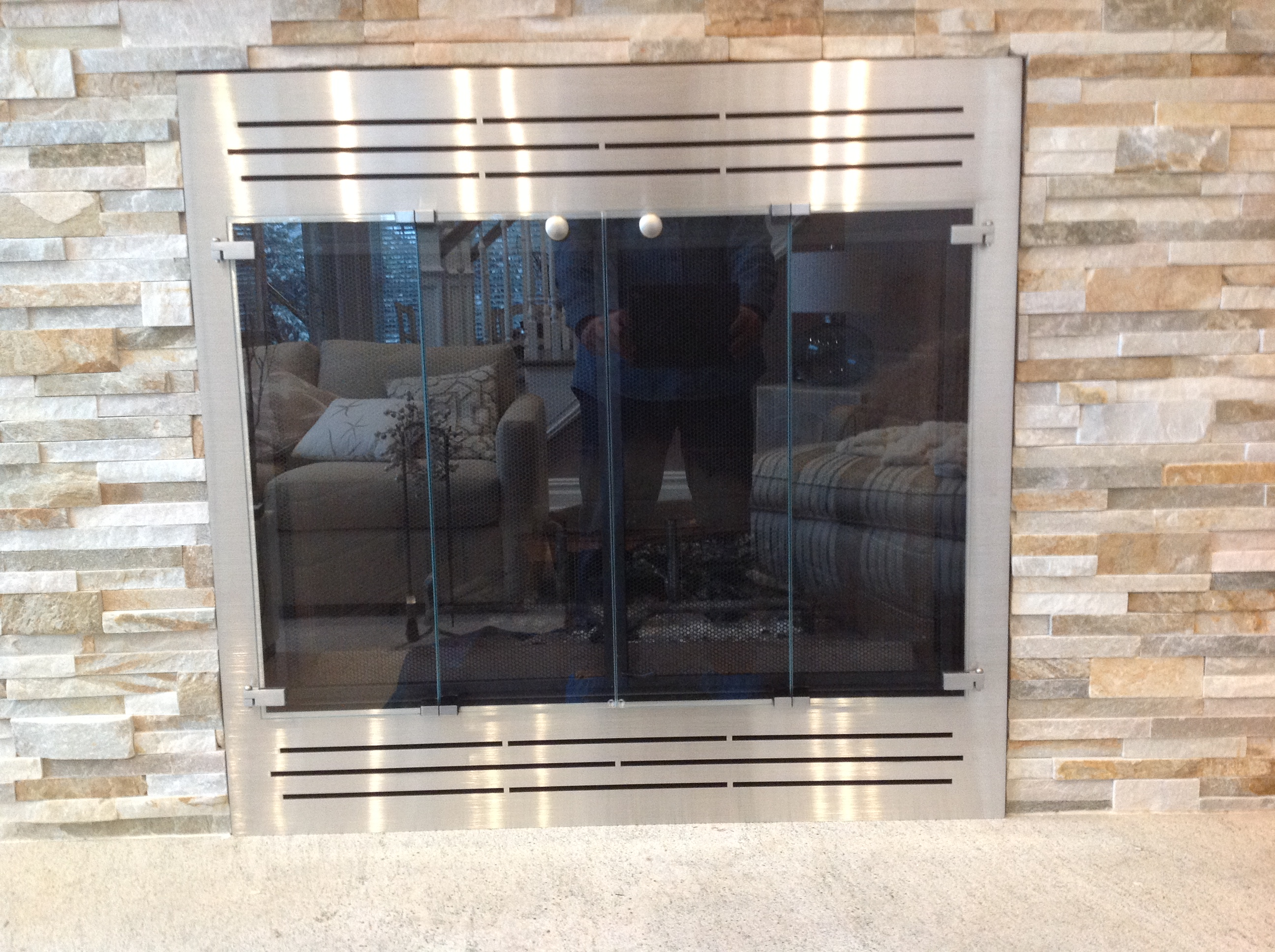 Custom Glass Fireplace Doors Glass Fireplace Doors Long Island Ny Beach Stove