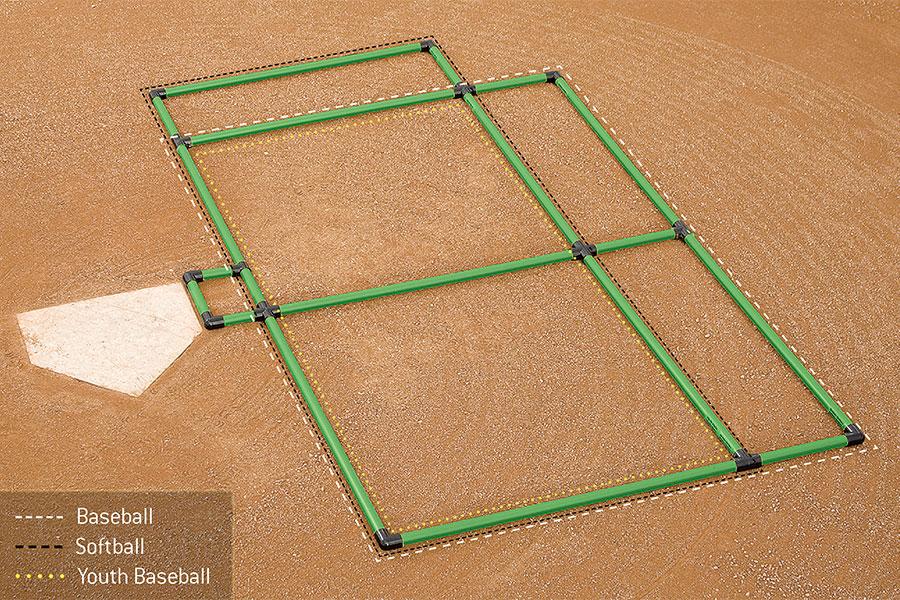 Field Marking Batter\u0027s Box Template 3-Way