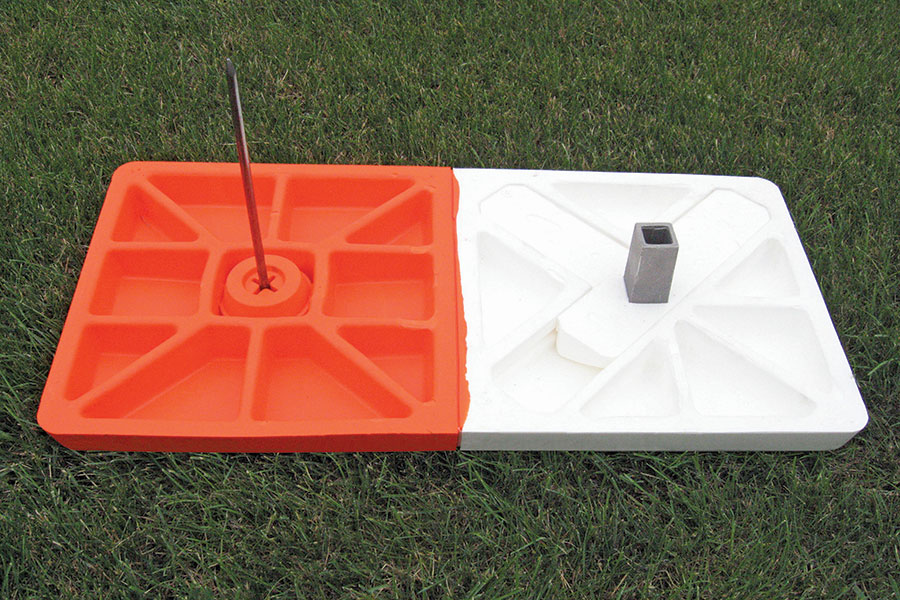 Double 1st Bases Orange and White First Base