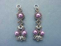 FREE beading pattern for Lotus Lace Earrings ...