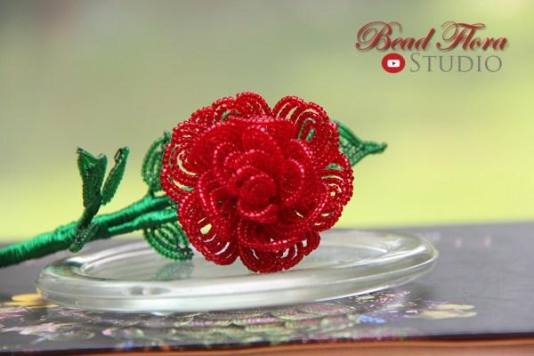 French beaded enchanted rose  KIT