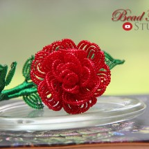 french beade flowers, beaded rose, enchanted rose, inspired by Beauty and the Beast, beadwork, home decor, Fen Li, Bead Flora Studio, Bead Flora and Jewels