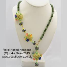 Floral Netted Necklace