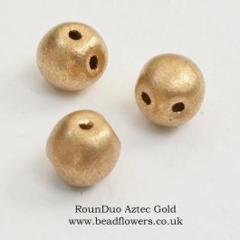 RounDuo Beads UK, 75 beads per pack, Katie Dean, Beadflowers