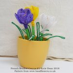 French Beaded Crocus Pattern, Katie Dean, Beadflowers