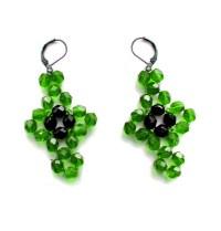 Free pattern for beautiful beaded earrings Fiona | Beads Magic